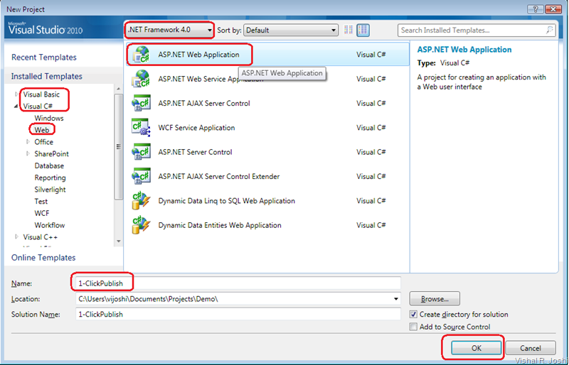 vishal joshi u0026 39 s tangent  creating a simple asp net 4 web app using visual studio 2010